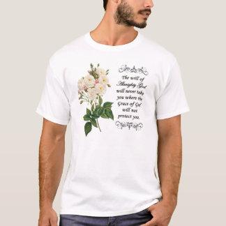 Blumenstrauß des schönen weißen Rosen-Shirts T-Shirt