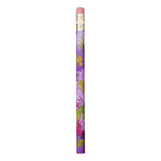 Blumenstrauß Farbdes abstrakten Kunst-mit Bleistift