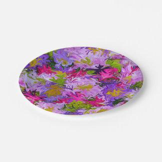 Blumenstrauß Farbdes abstrakten Kunst-mit Pappteller
