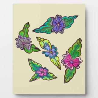 Blumenstrauß Fotoplatte