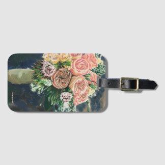 Blumenstrauß-Gepäckanhänger mit Kartenhalter Kofferanhänger