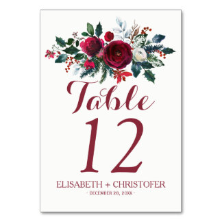Blumenstrauß-Hochzeitsgast des Blumenwinters roter Karte