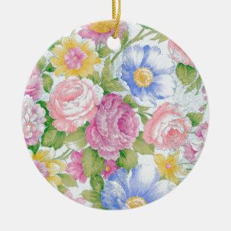 Blumenstrauß Keramik Ornament
