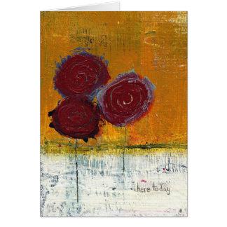 Blumenstrauß-Kunst-Garten-Gruß Karte