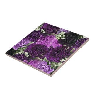 Blumenstrauß-lila Gartennelken Fliese