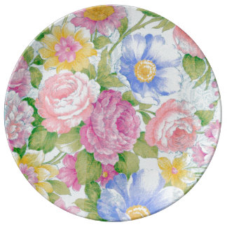 Blumenstrauß Porzellanteller