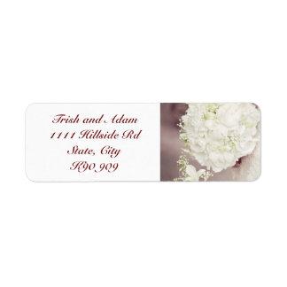 Blumenstrauß-Rücksendeadressen-Aufkleber