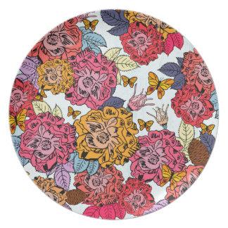 Blumenstrauß Teller