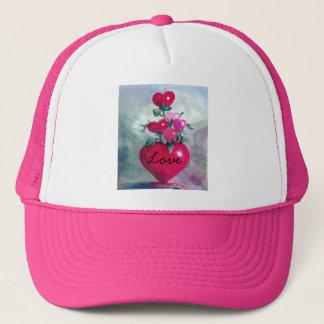 Blumenstrauß vom Herz-Hut Truckerkappe