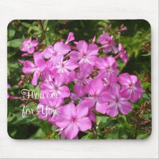 Blumenstrauß von rosa Blume-Ostern Mousepad