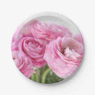 Blumenstrauß von rosa Ranunculus Pappteller