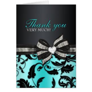 Blumenstrudel 16. Geburtstag danken Ihnen zu Karte