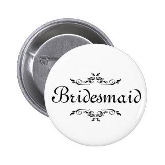 Blumenstrudel-Grenzbrautjungfer Runder Button 5,7 Cm