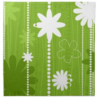 Blumenstruktur Stoffserviette