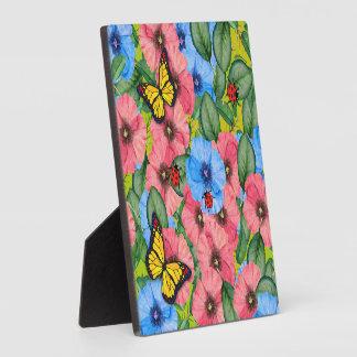 Blumenszene Fotoplatte