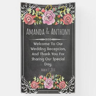 Blumentafel der eleganten Hochzeit Banner