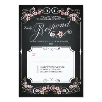 Blumentafel-Vintages mutiges Hochzeit UAWG 8,9 X 12,7 Cm Einladungskarte