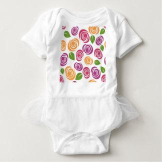 Blumentapeten-Blumen-Rosen-Muster-Natur Baby Strampler