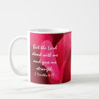 BlumenTasse, Bibel-Vers über die Stärke des Gottes Kaffeetasse