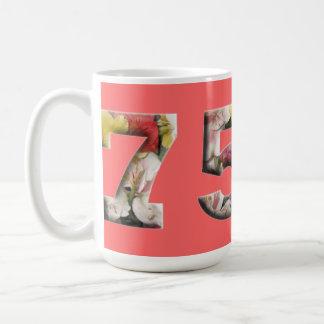 BlumenTassen-75. Geburtstags-Jahrestag des Kaffeetasse