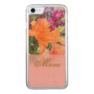 Blumentelefonkasten der mutter Tages Carved iPhone 8/7 Hülle