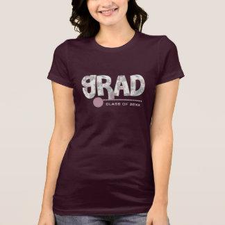 Blumentext-kundenspezifische Abschluss-T - Shirts