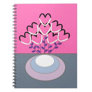 Blumentopf Notizblock
