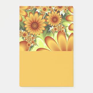 Blumentraum, moderne abstrakte post-it klebezettel