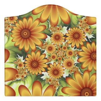 Blumentraum, moderne abstrakte türschild