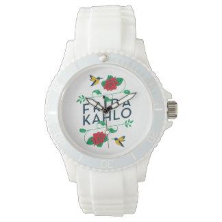 Blumentypographie Frida Kahlos | Armbanduhr
