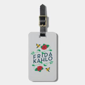 Blumentypographie Frida Kahlos | Gepäckanhänger