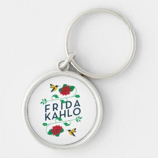 Blumentypographie Frida Kahlos | Schlüsselanhänger