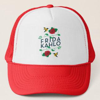 Blumentypographie Frida Kahlos | Truckerkappe