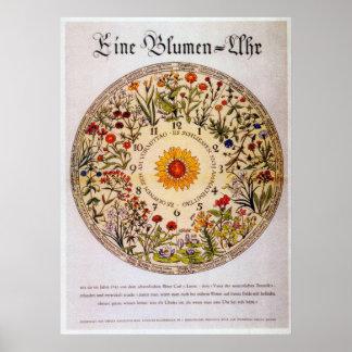 Blumenuhr   Blumen-Uhr Poster