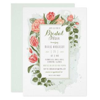 Blumenumarmungs-Brautparty-Einladung Karte