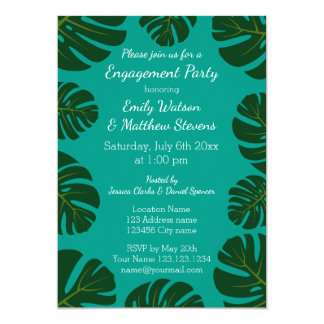BlumenVerlobungs-Party Einladungen der tropischen