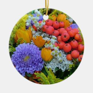 Blumenverzierung Rundes Keramik Ornament