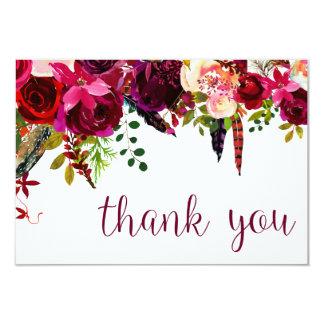 Blumenwasser-Farbe danken Ihnen Karte
