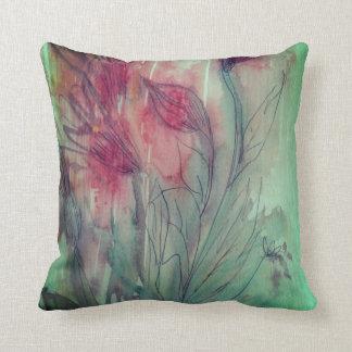 Blumenwasser-Farbe Kissen