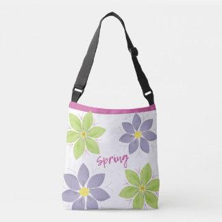 Blumenwatercolor-Frühlings-Tasche Tragetaschen Mit Langen Trägern