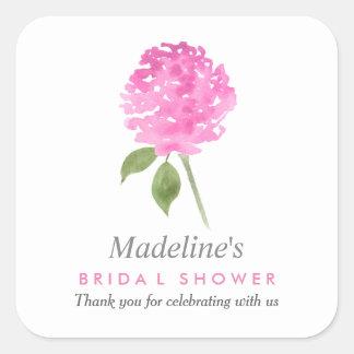 Blumenwatercolor-Rosen-Brautparty-Bevorzugung Quadratischer Aufkleber