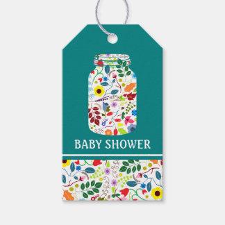 BlumenWeckglas-Babyparty Geschenkanhänger