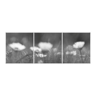 Blumenwiese SW Leinwand 3er