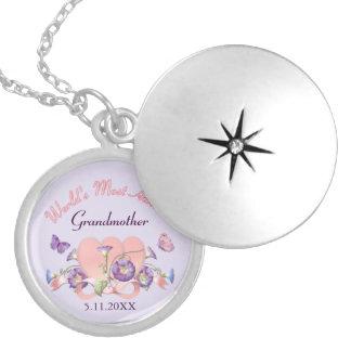 Blumenwinden-Mutter-Tag - Großmutter Versilberte Kette