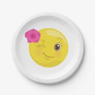 BlumenWink Girly Emoji Pappteller