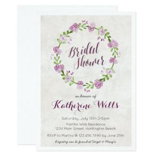 Blumenwreath-Brautparty laden ein Karte