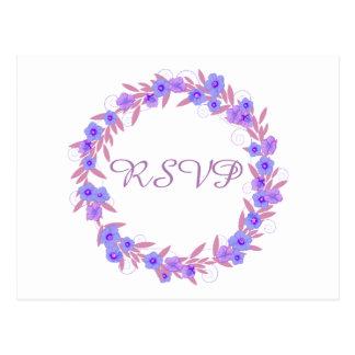 Blumenwreath-Lavendel UAWG Postkarten