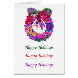 BlumeWreath HappyHolidays Kunst-n Karte