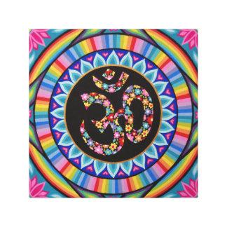 Blumige OM-Mandala durch Soozie Wray Leinwanddruck