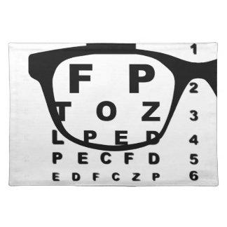 Blurr Augen-Test-Diagramm Tischset